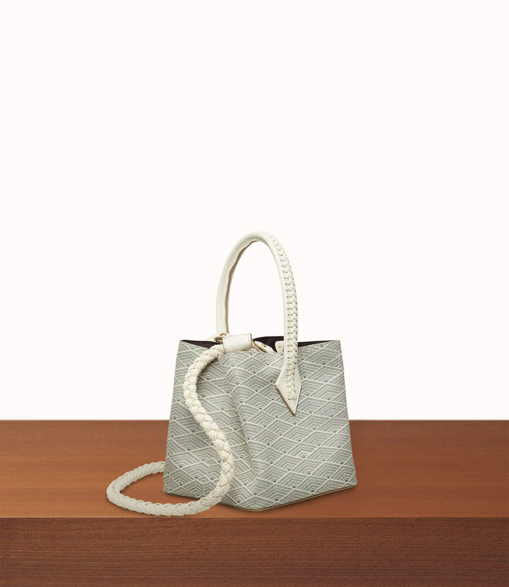 Perriand Mini Collapsible Cabas Signature Jacquard Cream