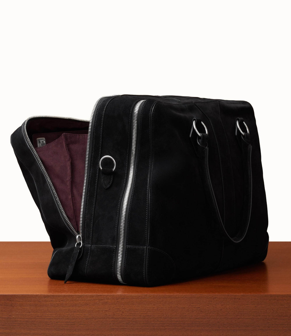 Le Grand Voyage Three to Five Night Bag Suede Black