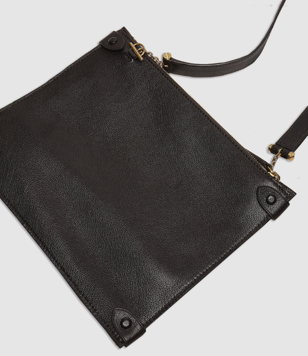 Private Eye Bag with Shoulder Strap Buffalo Cacao