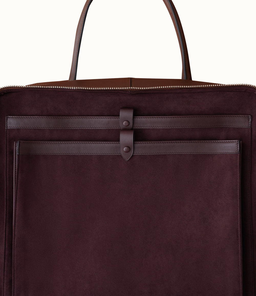 Le Petit Voyage Overnight Briefcase Natural Calfskin Matte Black