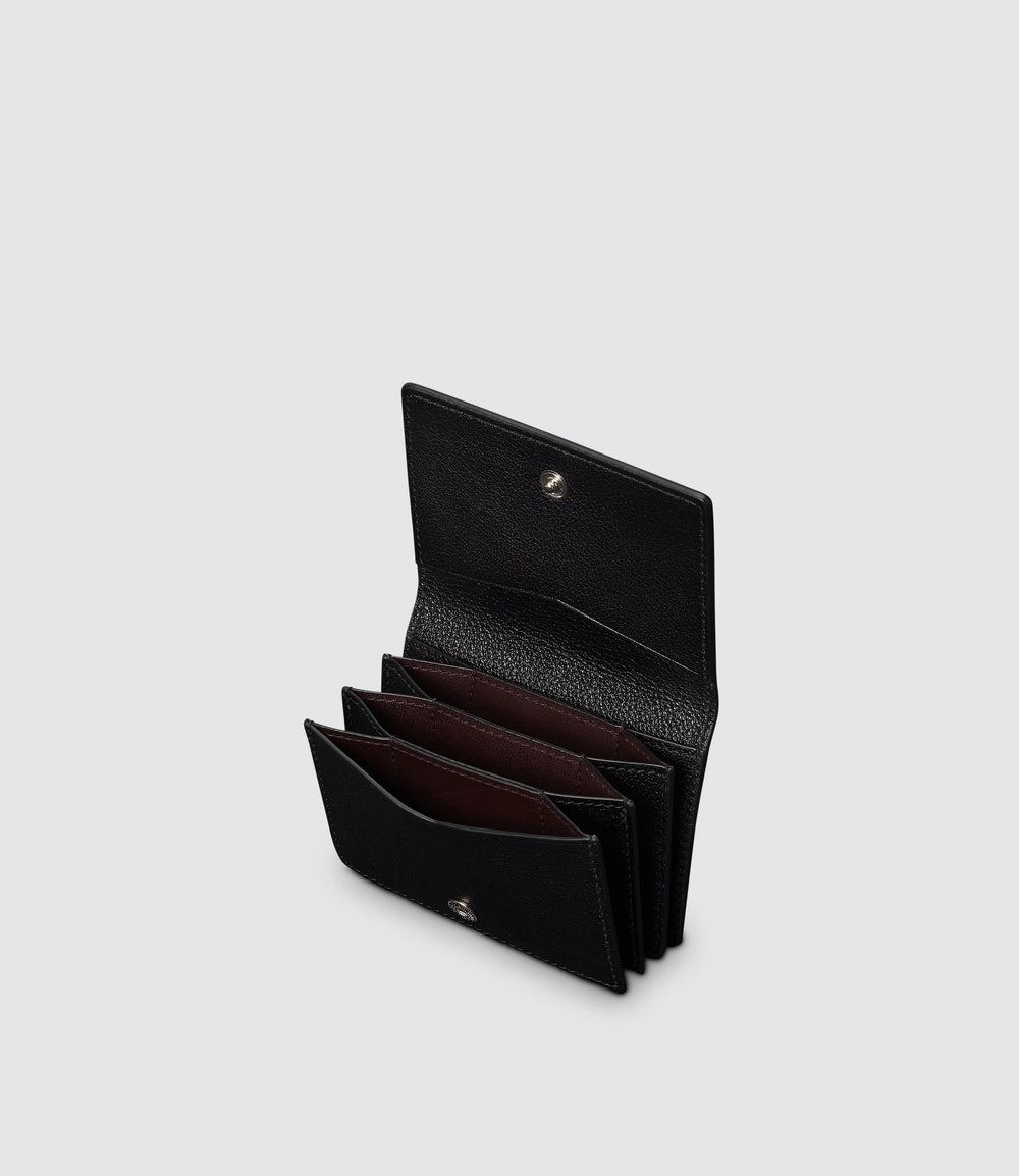 Metier - Business Card Holder - Black Grained Leather