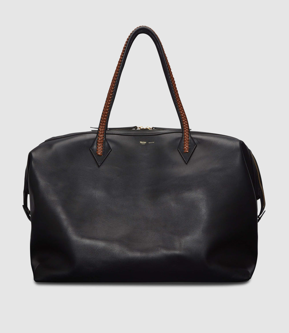 Perriand Weekend Bag Atelier Calfskin Black Cognac