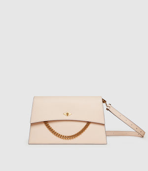Roma Shoulder Bag Smooth Calfskin Blush