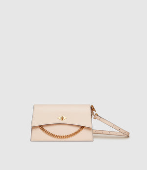 Roma Mini Shoulder Bag Smooth Calfskin Blush