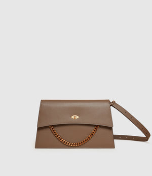 Roma Shoulder Bag Smooth Calfskin Mushroom