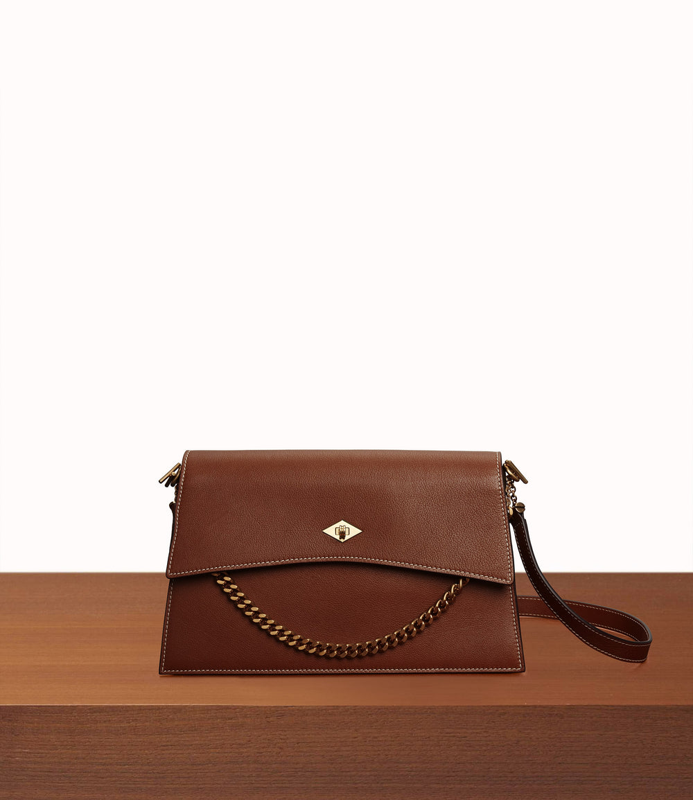 Roma Small Shoulder Bag Buffalo Cognac