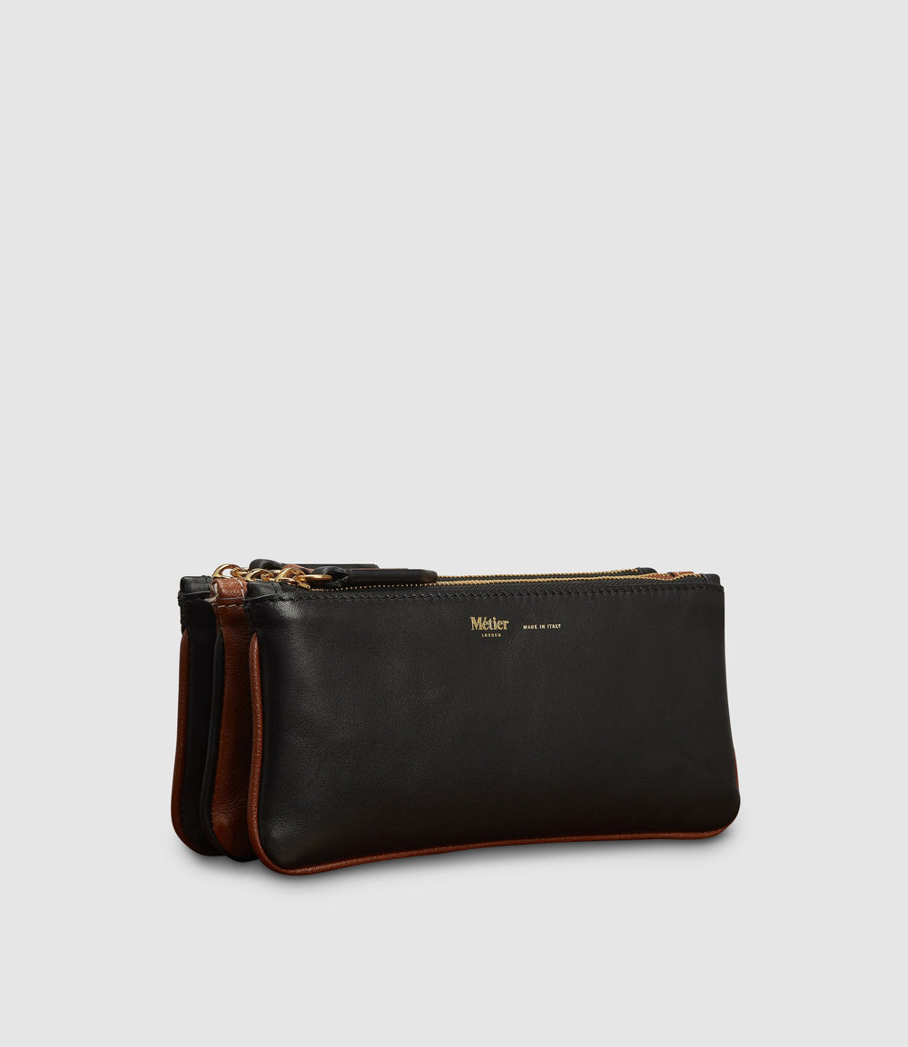 Small Things Pouch Atelier Calfskin Black Cognac