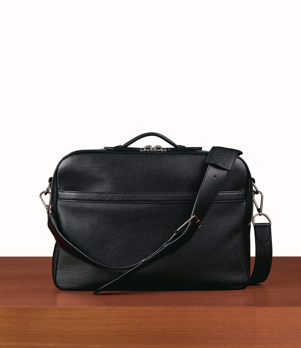 Wanderer Briefcase Buffalo Black | Leather Briefcases for Men