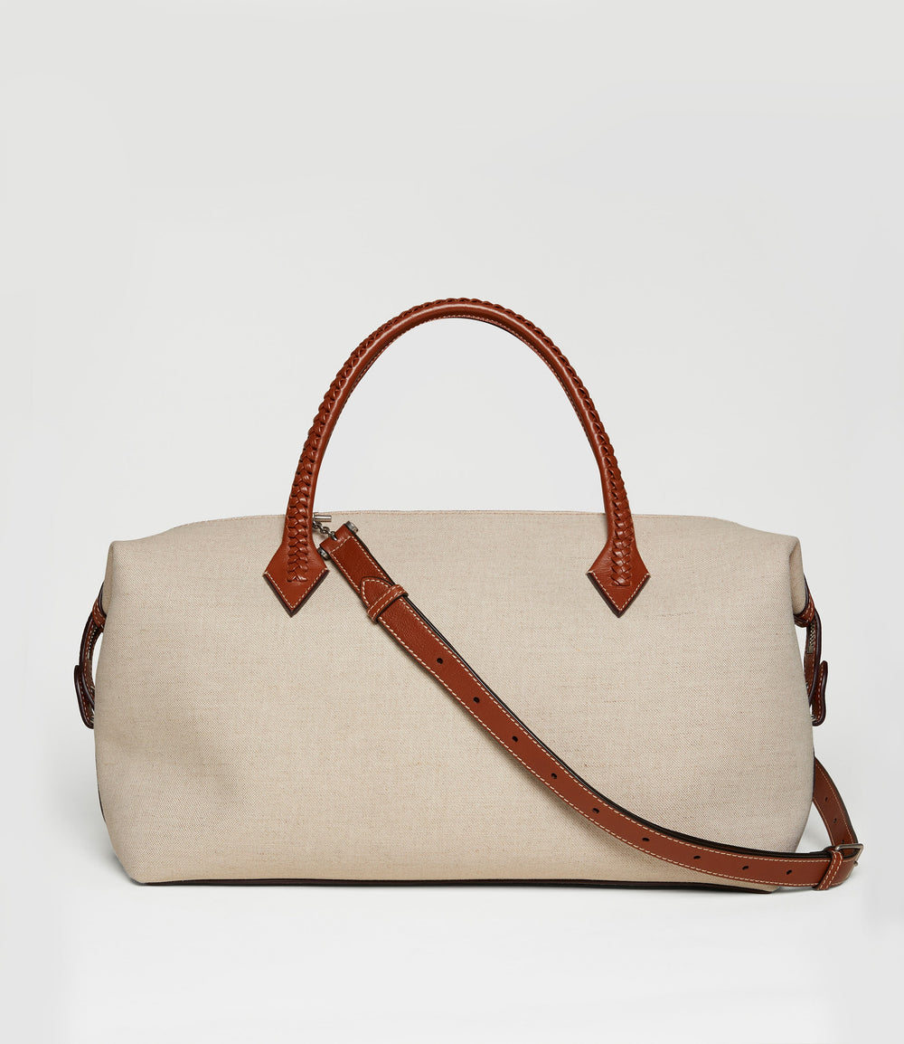 Perriand City Natural Linen with Cognac