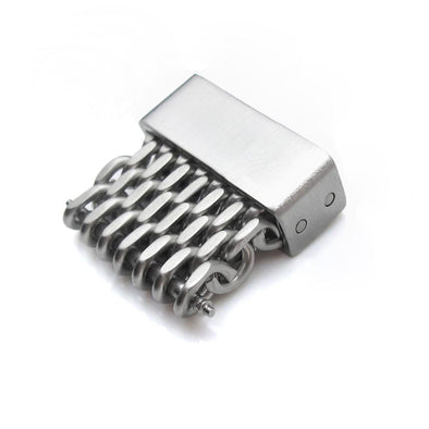 18mm, 20mm, 22mm or 24mm Stainless Steel mesh band extension piece, Brushed - Taikonaut