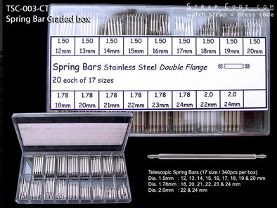 2 telescopic Spring Bar Graded Box - 340pcs/Box - Taikonaut