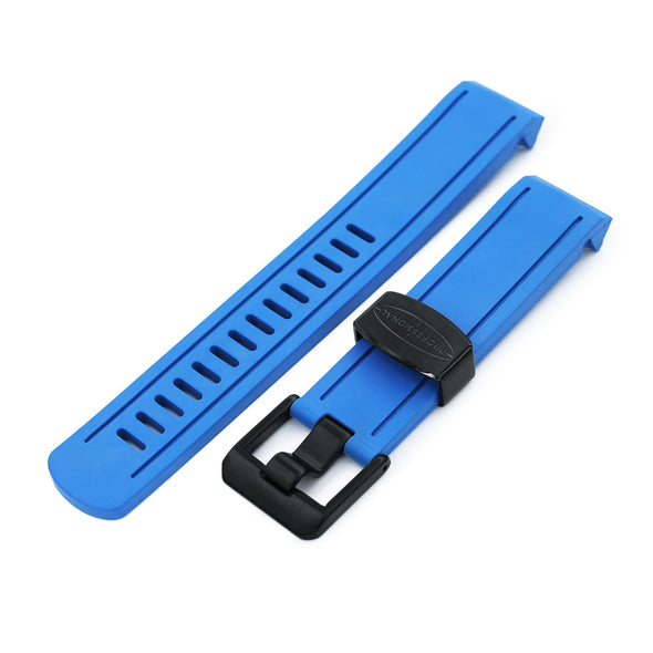 Crafter Blue Rubber Royal Blue watch band for Seiko Blue Sumo SBDC069
