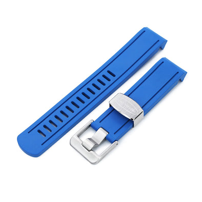 Seiko Blue Sumo SBDC069 Curved End Lug Rubber Watch Band |Crafter Blue