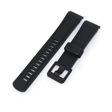 Crafter Blue Black Rubber Watch Band for Seiko Shogun SBDC007