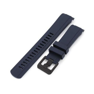 Seiko 5 SRPD53 Fitted Curved End Lug Rubber Watch Band | Crafter Blue