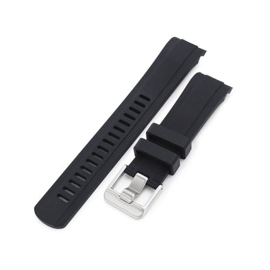 Seiko 5 SRPD73 Fitted Curved End Lug Rubber Watch Band | Crafter Blue