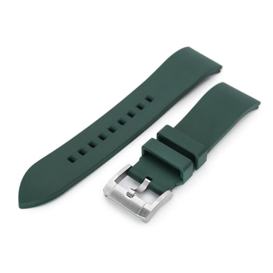 22mm Straight End Green FKM Rubber Quick Release Watch Band |Strapcode