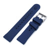 Chaffle Navy Blue FKM Rubber watch strap, 19mm to 22mm Strapcode Watch Bands