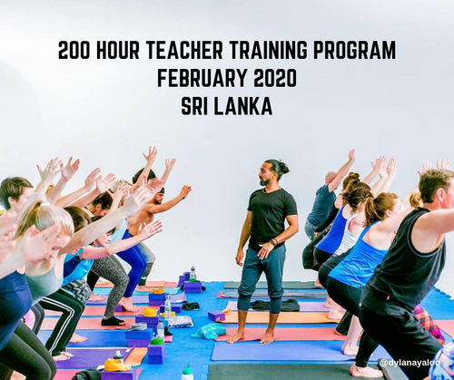200 Hour Yoga Teacher Training with Dylan Ayaloo - Sri Lanka - February 2020