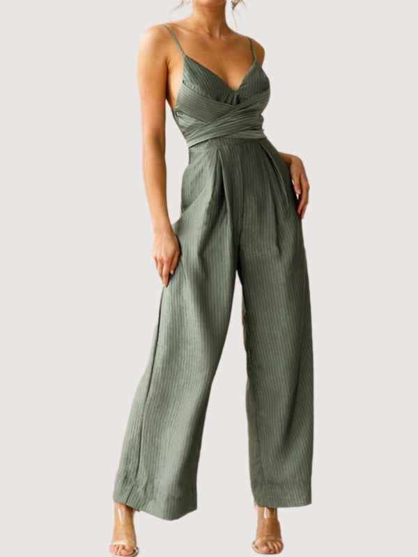 Green Shift V Neck Cocktail One-Pieces