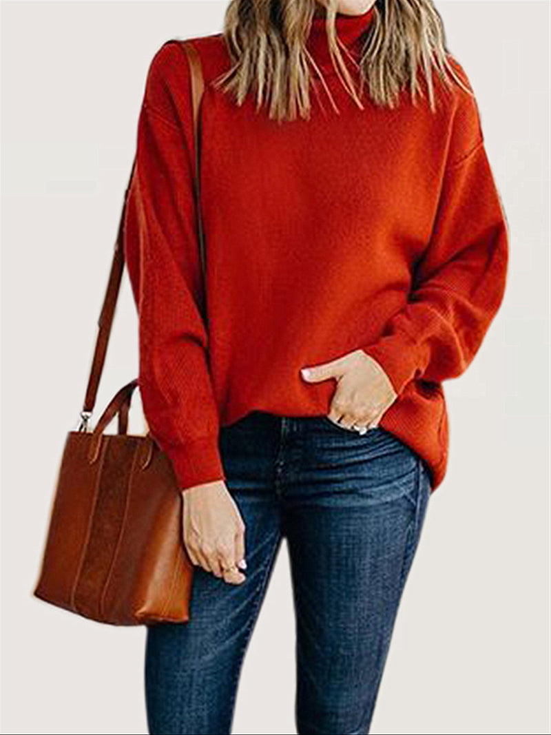 Autumn Winter Casual Turtleneck Long Sleeve Sweater