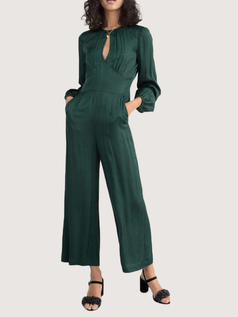 Green Long Sleeve Shift One-Pieces