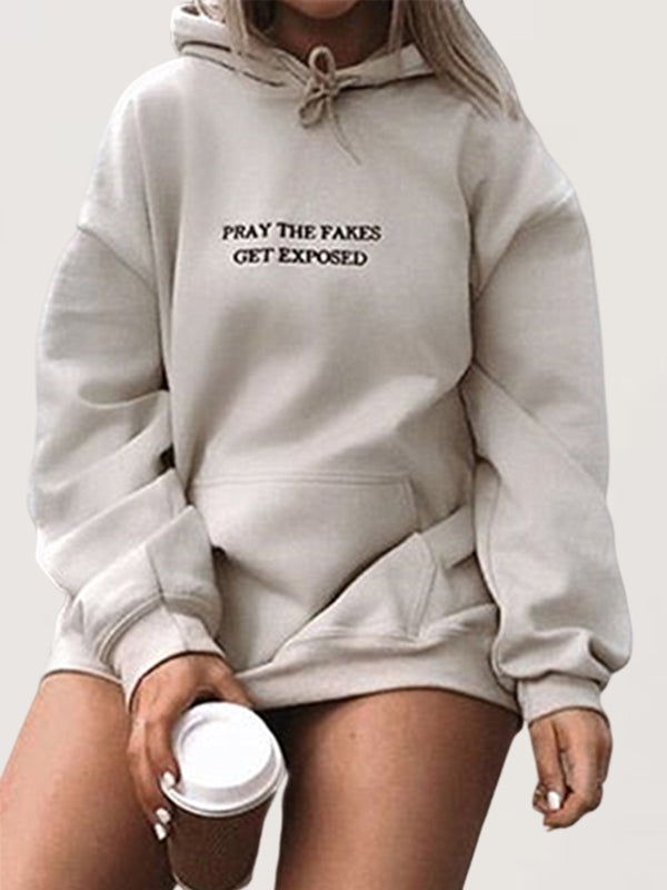 Casual Basic Daily Plus Size Hoodie