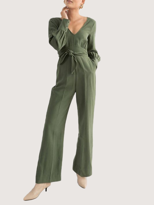 Green V Neck Shift Sexy One-Pieces