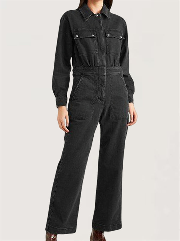 Casual Basic Daily Long Sleeve Jumpsuit