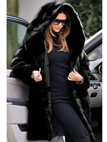 Womens Thick Faux Fur Parka Long Overcoat