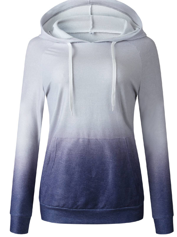 Long Sleeve Asymmetric Cotton-Blend Hoodie Shirts & Tops