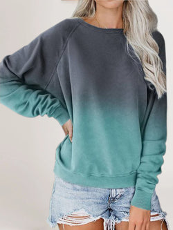 Casual Color-Block Shirts & Tops