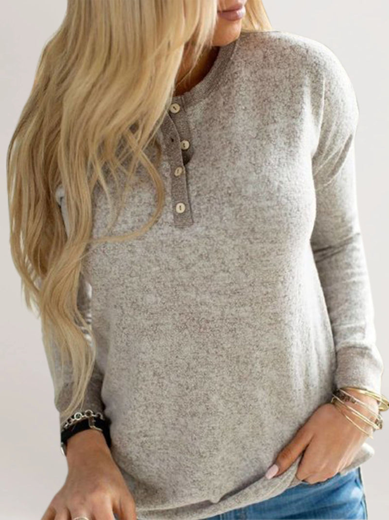 Apricot Long Sleeve Casual Buttoned Shirts & Tops
