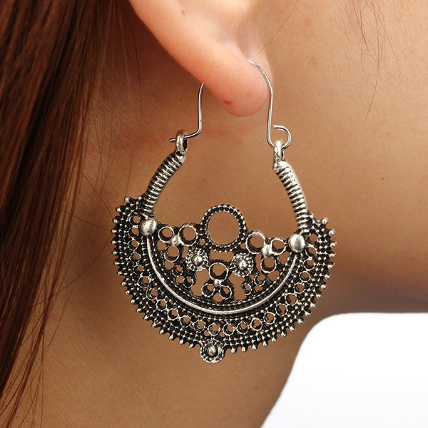 Silver Vintage Alloy Earrings
