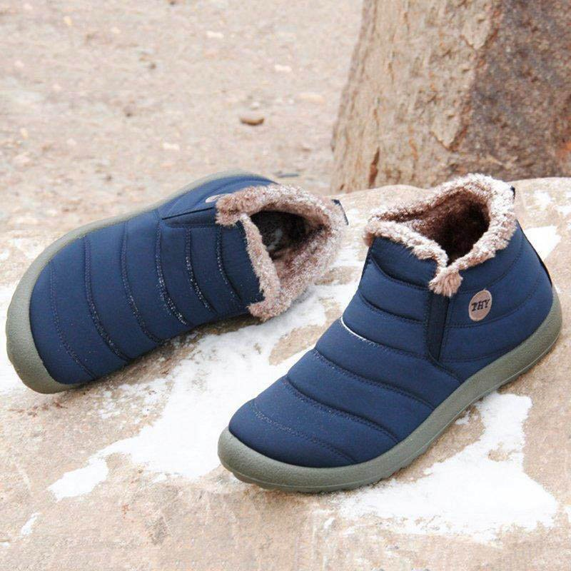 Unisex Waterproof Fur Lined Snow Boots (Plus Size)