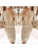 Women's Knitted Casual Round Neck Jumpsuit