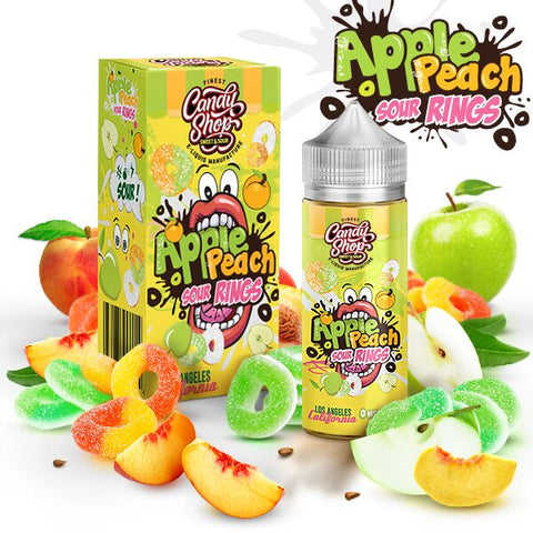 Candy Shop Apple Peach Sour Rings Eliquid UK