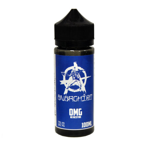 Anarchist blue E-Liquid 100ml 0mg free delivery UK Ecig Station