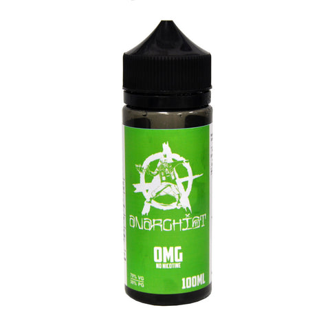 Anarchist green E-Liquid 100ml 0mg free delivery UK Ecig Station