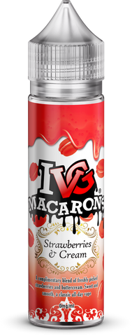 IVG Macarons - Strawberries & Cream | UK Ecig Station
