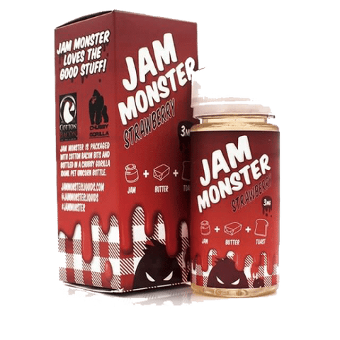 Jam Monster - Strawberry 100ml 0mg | UK Ecig Station