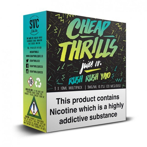 Cheap Thrills Juice Co - Rush Rush Yayo | UK Ecig Station