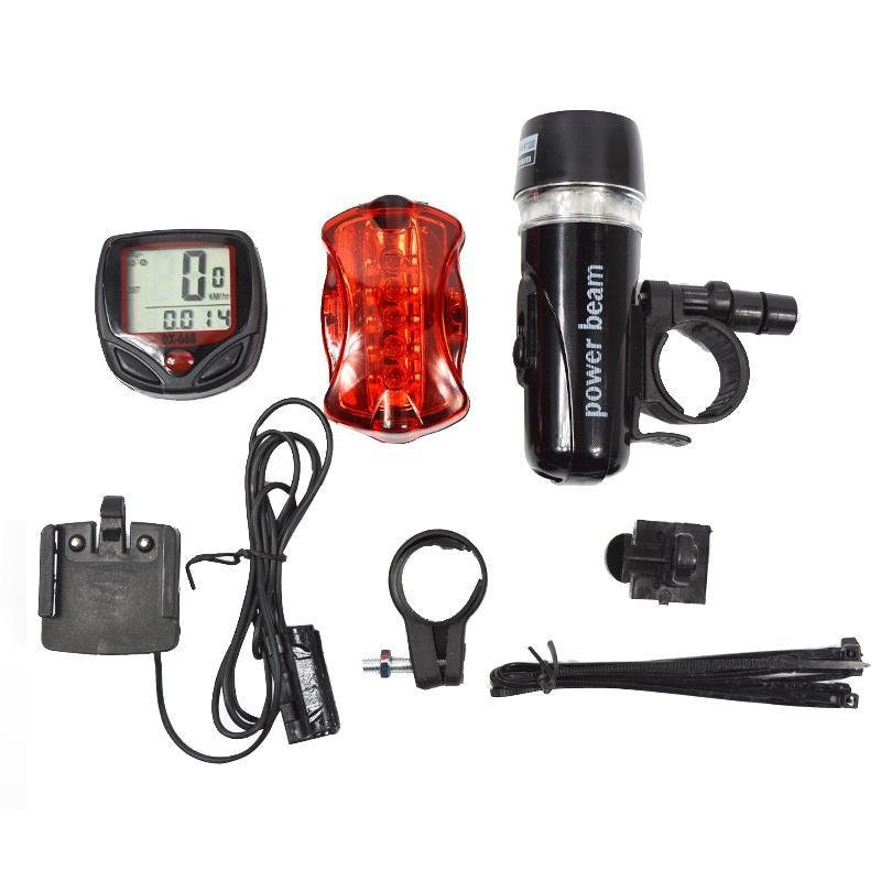 Bicycle Set - Speedometer, Head Light & Rear Light