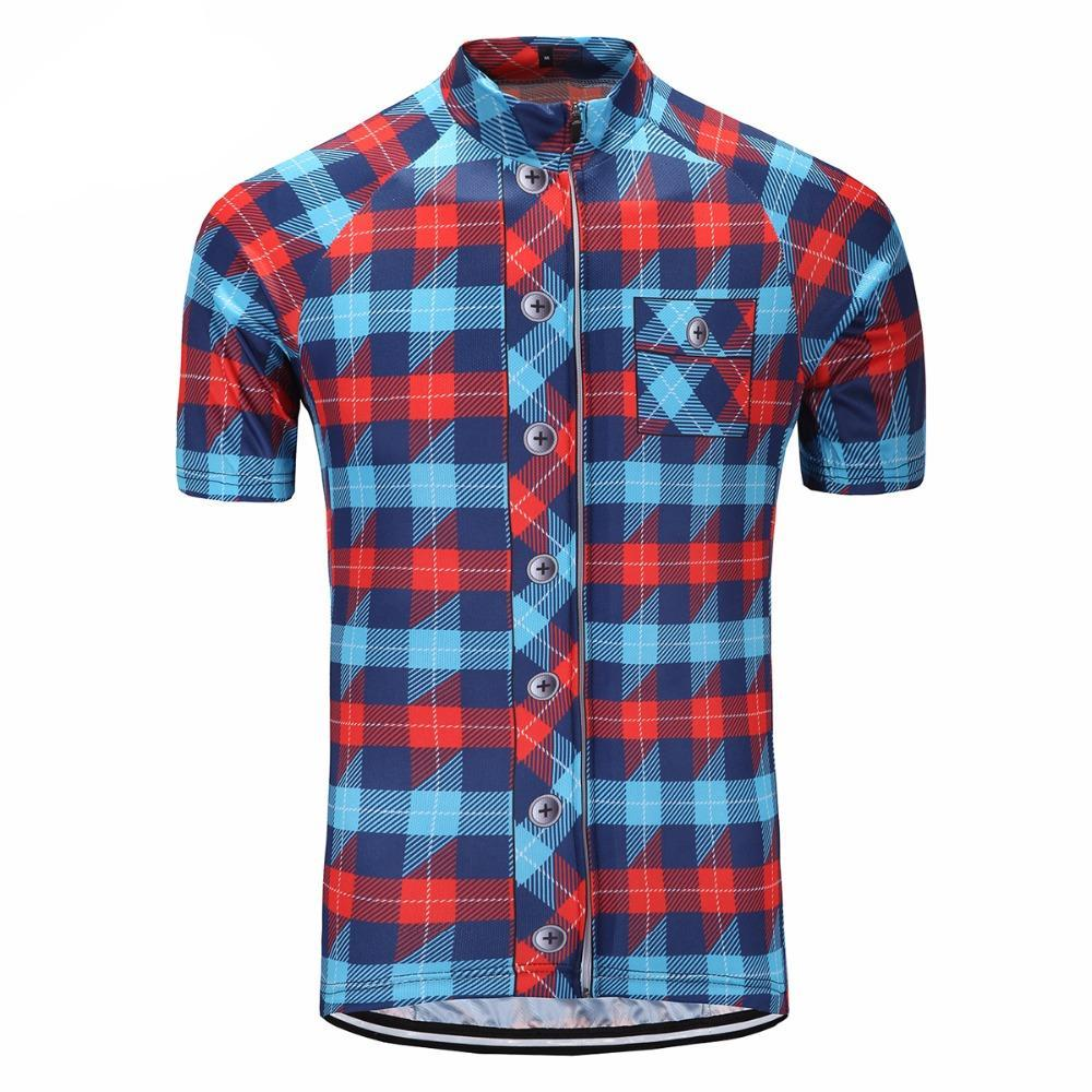 Chequered Cycling Jersey