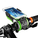 5 in 1 Multi-Function Bicycle Device (Phone Mount, Speaker, Power Bank, Bell & Flash Light)
