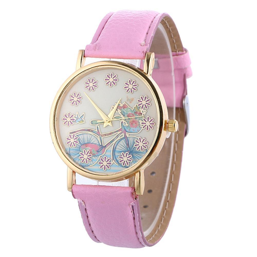 Flower Bicycle Watch