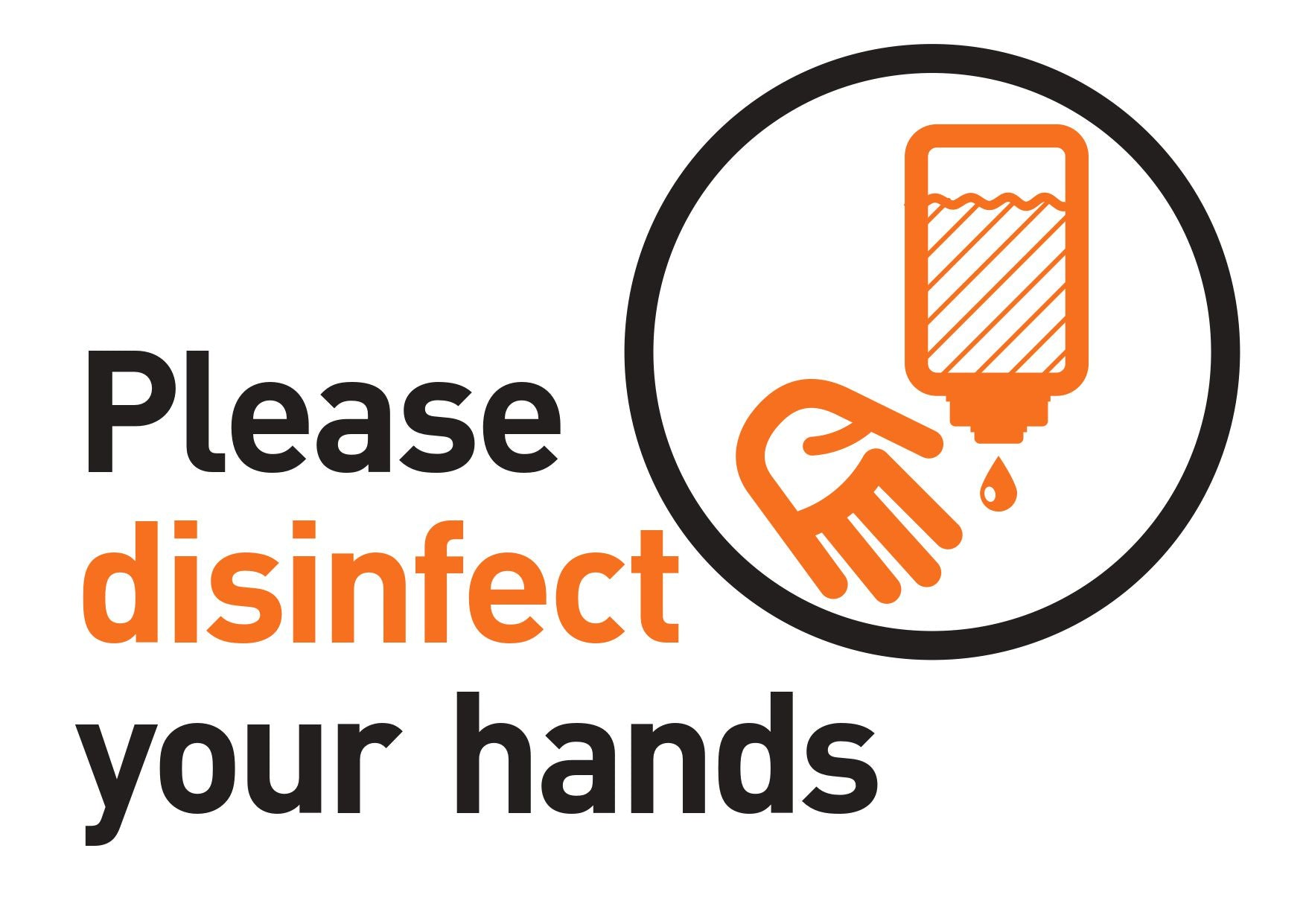 Please Disinfect Your Hands FREE Sign Design