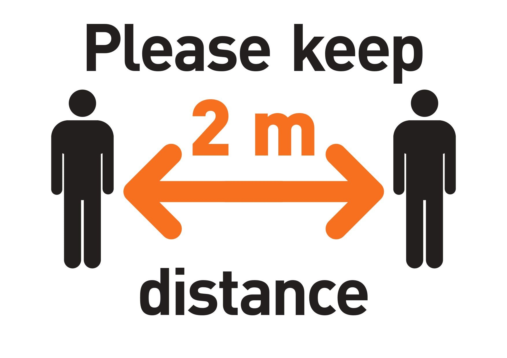 Please Keep 2 m Distance FREE Sign Design