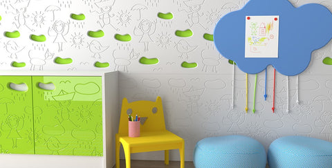 Distinct Kids decorative CLOUD panels and cupboard doors