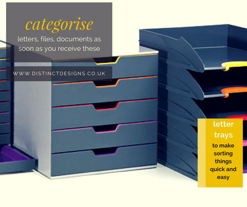 Distinc Desings Lettter trays will help you organise document as soon as these arrive